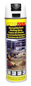 Bombe traceur de chantier 500ml fluo blanc - Gedimat.fr