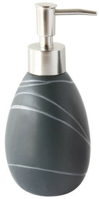 Distributeur de savon ZEN décor galets gris - Gedimat.fr
