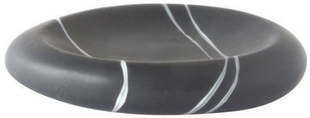 Porte-savon à poser ZEN céramique décor galets gris - Gedimat.fr