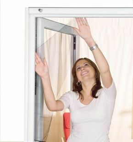 Toile moustiquaire simple pour fenêtre toile polyester gris haut.1,50m larg.1,30m - Gedimat.fr