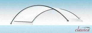 Marquise contemporaine arrondie en aluminium laqu� blanc CLASSIC larg.90cm long.1,60m - GEDIMAT - Mat�riaux de construction - Bricolage - D�coration