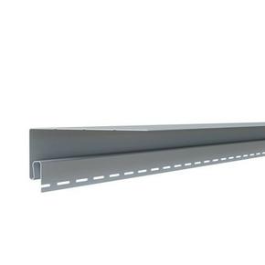 Moulure de finition d'encadrement pour bardage vinyl 73 x 200 mm Long.2,90 m Gris Clair - Gedimat.fr