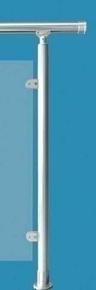 Poteau R1 Aluminium rond pour garde-corps RONDO haut.0,97m - Gedimat.fr
