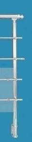 Poteau R2 Aluminium rond pour garde-corps RONDO haut.1,15m - Gedimat.fr