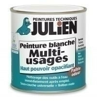 Peinture multi-usage MULTIFOND 2 blanc mat velouté en bidon de 0,50 litres - Gedimat.fr