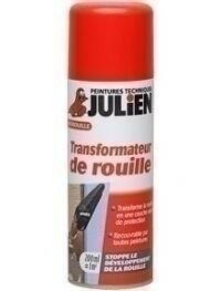 Transformateur de rouille JULIEN STOP'ROUILLE aérosol de 200ml - Gedimat.fr