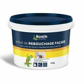 Enduit de rebouchage façade en pâte BOSTIK seau de 4kg - Gedimat.fr