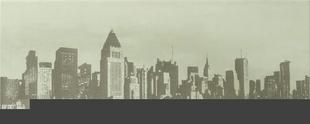 Décor satiné LAQUE SKYLINE NY, 20x50 cm, épaisseur 8 mm, particulière - Gedimat.fr