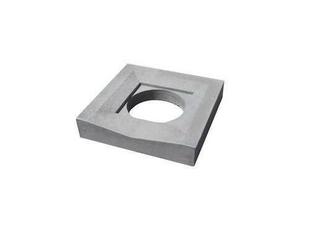 Caniveau en pierre reconstituée INSTONE siphon dim.30x30cm ép.5cm graphite - Gedimat.fr