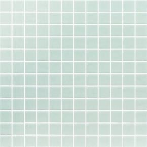 Emaux de verre de 2,5x2,5cm antidérapant NIEVE sur trame de 31,1x31,1cm coloris blanco - Gedimat.fr