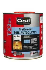 Traitement bois autoclavés TX204 2,5L brun - Gedimat.fr