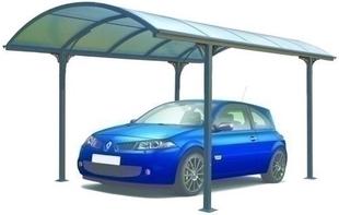Carport simple en aluminium toit arrondi long.3,00m larg.4,85m - Gedimat.fr