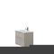 Meuble monté à suspendre 2 tiroirs + vasque céramique ESTATE mélaminéhaut.60cm larg.45cm long.80cm structuré chêne - Gedimat.fr