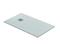 Receveur rectangulaire à poser QUARTZ résine polyester haut.3cm larg.80cm long.1,20m blanc - Gedimat.fr