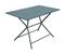 Table aluminium pliante globe long.110cm larg.70cm haut.74cm coloris gris - Gedimat.fr