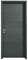 Bloc-porte FUJI isolant revêtu mélaminé structuré finition gris basalte haut.204cm larg.83cm gauche poussant - Gedimat.fr