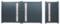 Portail battant LISBONNE en aluminium haut.1,60m larg. Entre piliers 3,06m coloris gris - Gedimat.fr