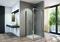 Porte pivotante LINEA haut.190cm long.80cm poli brillant verre transparent - Gedimat.fr