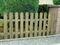 Clôture en bois plate long.180 cm haut.80 cm - Gedimat.fr