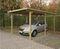 Carport bois éco 1 voiture long.3m prof.5m haut.2,20m - Gedimat.fr