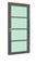 Bloc-porte JAZZ en bois exotique avec vitrage finition gris graphite haut.2,04m larg.73cm gauche poussant - Gedimat.fr