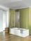 Pare-baignoire ENTRA long.100cm haut.120cm verre transparent avec support plafond - Gedimat.fr