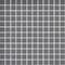 Emaux de verre de 2,5x2,5cm pour mur et piscine NATUREGLASS sur trame de 31,1x31,1cm coloris dark grey - Gedimat.fr