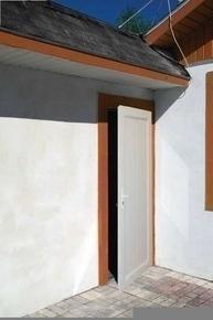 Porte de service PVC Blanc droite poussant haut.2,15m larg.90cm - Gedimat.fr