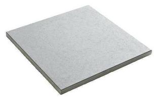 Dalle rustique bullée dim.50x50 cm ép.3,5 cm ton gris - Gedimat.fr