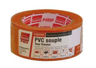 ADHESIF PVC ORANGE SOUPLE SUP 33X48MM - Gedimat.fr