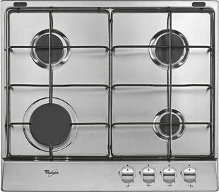 Plaque de cuisson 4 feux gaz (1000W, 2 x 1750W, 3000W) WHIRLPOOL 60cm coloris inox - Gedimat.fr
