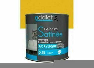 Peinture acrylique satin  0.5 l citron - Gedimat.fr