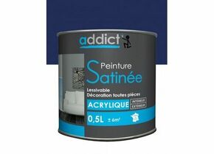 Peinture acrylique satin 0.5 l marine - Gedimat.fr
