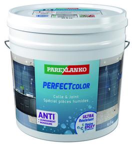 Joint époxy pour la réalisation de joints de 2 à 15 mm résistants à l'eau PERFECT COLOR coloris olive 5kg - Gedimat.fr