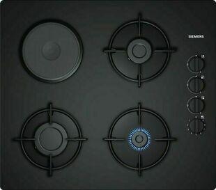 Plaque de cuisson 3 feux gaz + 1 foyer électrique SIEMENS 60cm coloris noir - Gedimat.fr