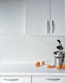 Carrelage pour mur en faïence mate BLANCO larg.25cm long.50cm, coloris blanc - Gedimat.fr
