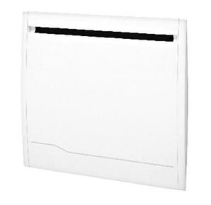 Radiateur à inertie sèche ISALINE 1000W larg.60,7cm haut.58cm prof.11,5cm blanc - Gedimat.fr