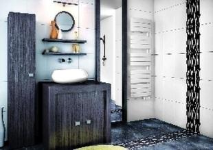 Radiateur sèche serviettes slim VENISE 500W Dim. : L.45 x H.145 x P.13,8 cm - GEDIMAT - Matériaux de construction - Bricolage - Décoration