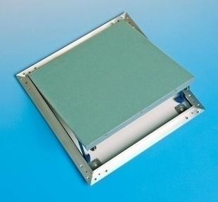 Trappe de visite métallique laquée blanche ACCESSORIE - 600x600mm - Gedimat.fr