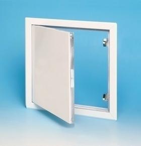 Trappe de visite métallique laquée blanche ACCESSORIE - 200x200mm - Gedimat.fr
