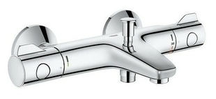Mitigeur thermostatique bain/douche G800 GROHE laiton chromé - Gedimat.fr