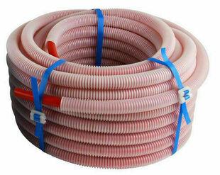 Tube PER prégainé diam.16mm en couronne de 25m coloris Rouge - Gedimat.fr