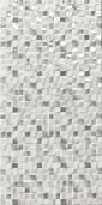 Décor ANDROS pour mur en faïence brillante ADA larg.25cm long.50cm coloris gris - Gedimat.fr