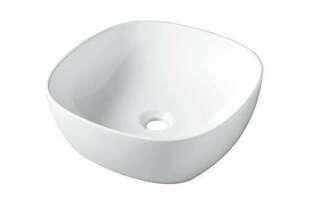 Vasque à poser VILLETTE porcelaine long.40,5cm larg.40,5cm haut.15cm blanc - Gedimat.fr