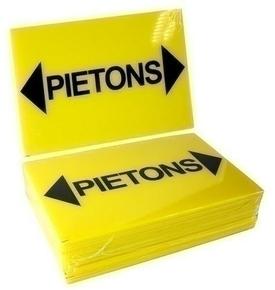Panneau «piétons» avec flèches long.300mm larg.200mm - Gedimat.fr