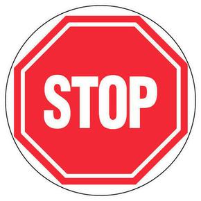 Panneau rond «stop» diamètre 300mm - Gedimat.fr