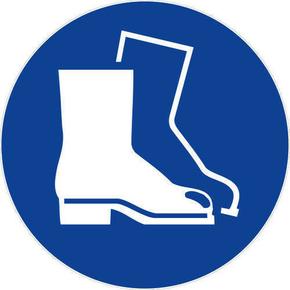 Panneau rond «chaussures de sécurité obligatoire» diamètre 300mm - Gedimat.fr