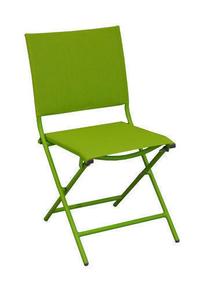 Chaise GLOBE alu dim.85x45x54cm toile vert mousse - Gedimat.fr