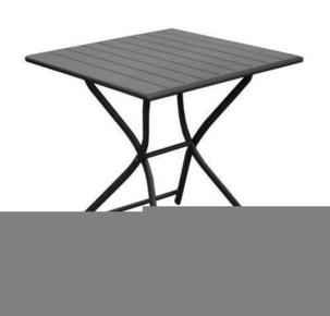 Table aluminium pliante globe dim.70x70cm haut.74cm coloris gris - Gedimat.fr