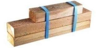 Lot de 3 lambourdes bois pour MODULESCA - Gedimat.fr